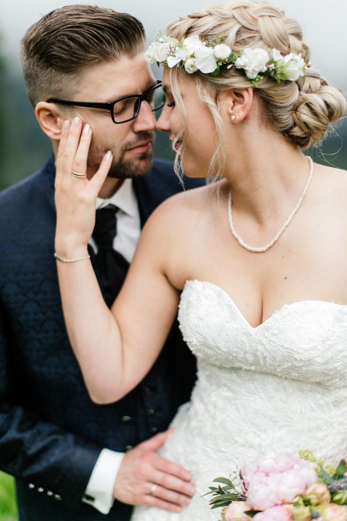 Oberstaufen Hochzeitsfotografie Hüttenhochzeit auf dem Berg