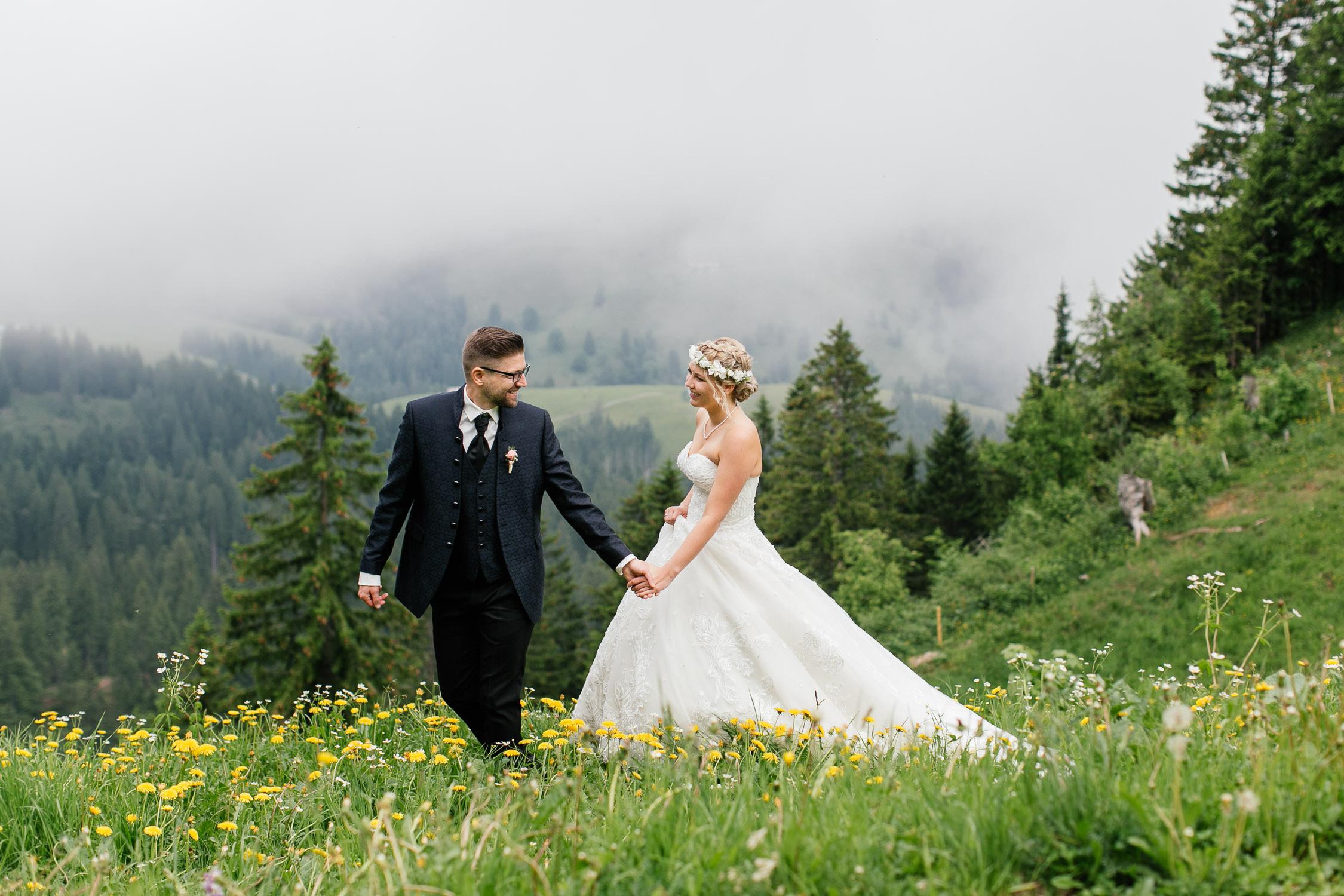 Oberstaufen Berghochzeit Hochzeitsfotografie