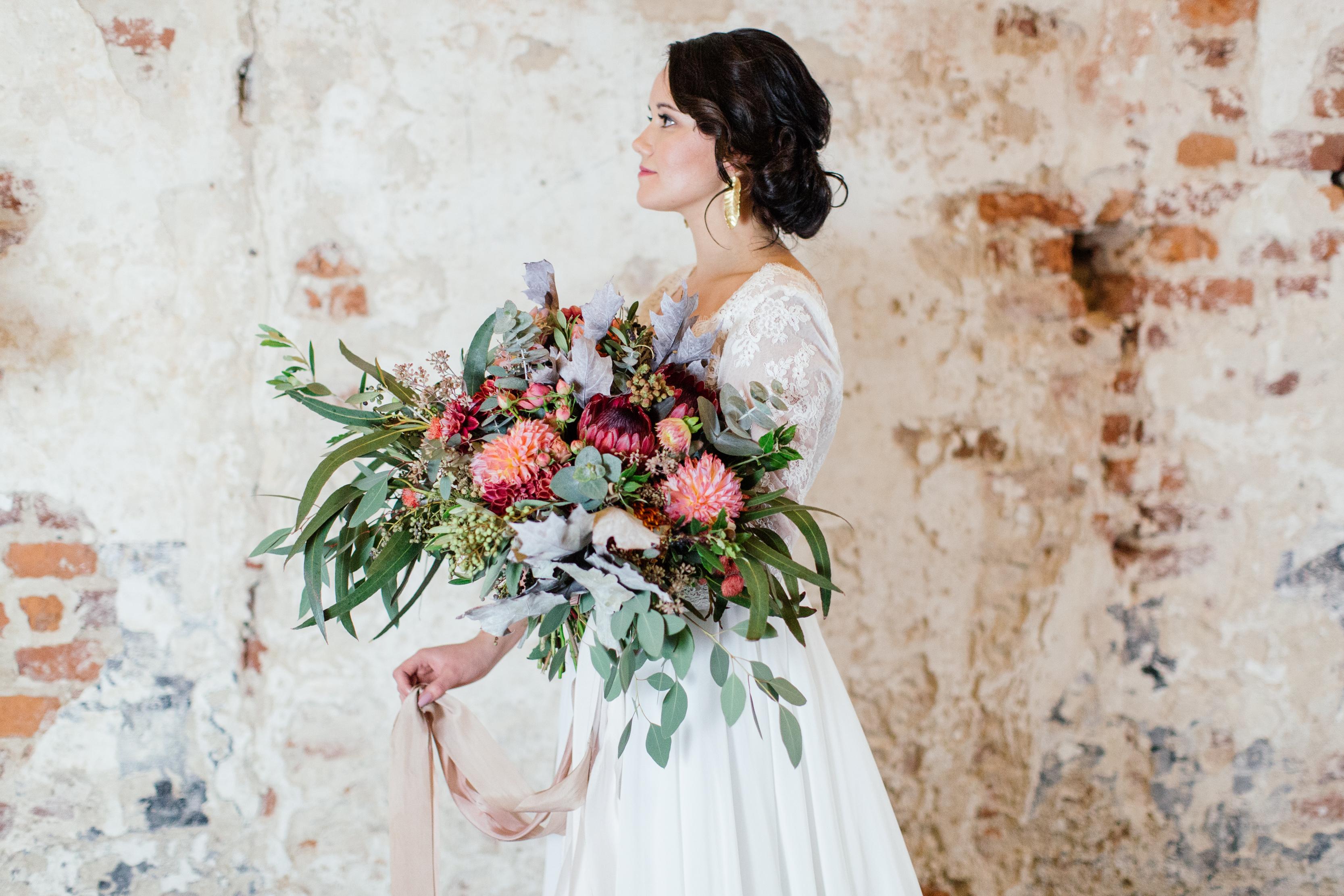 Moderner Brautstrauss Hochzeit