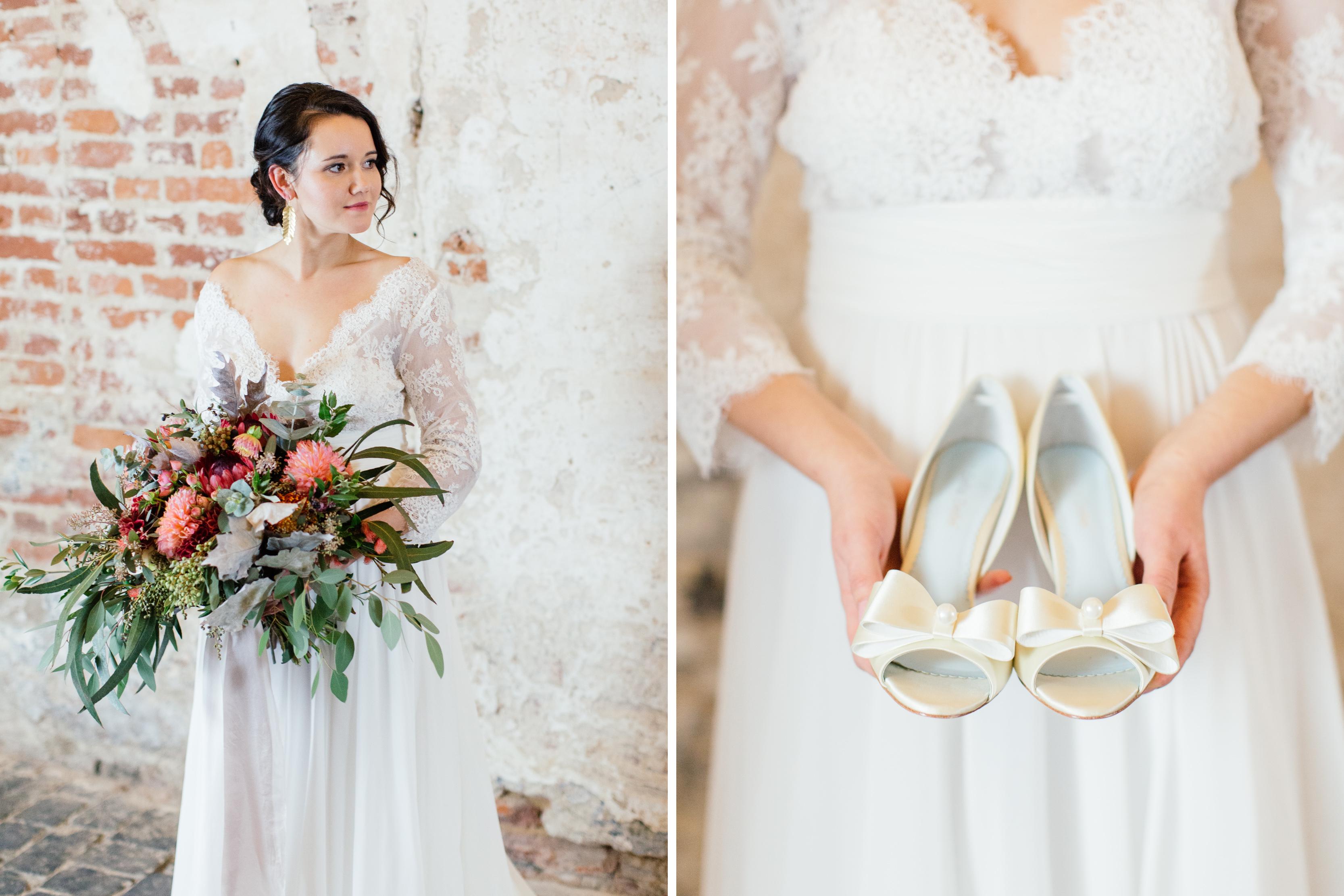 Details der Braut