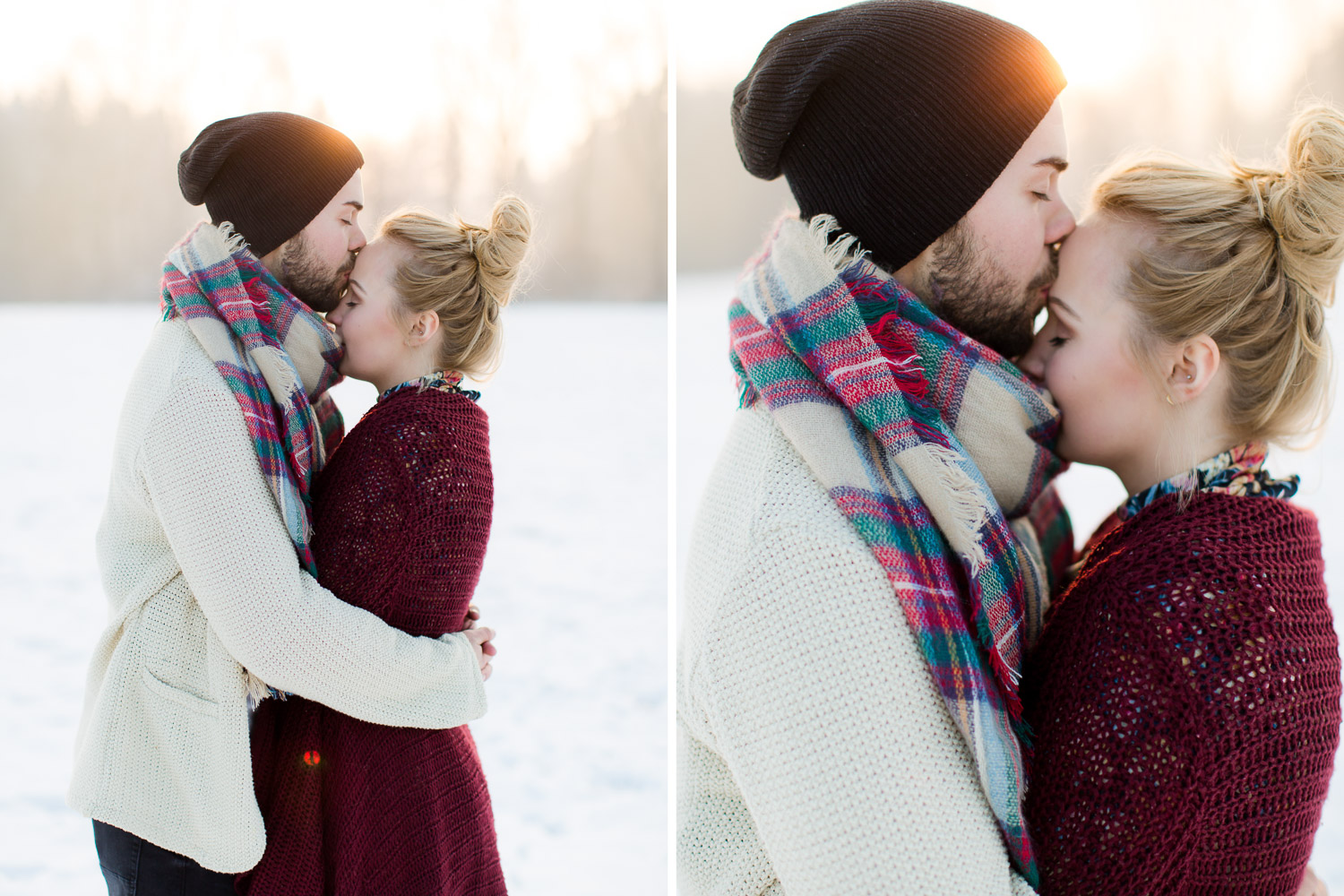 Couple Session in Snow in germany