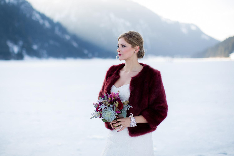 Hochzeitsinspiration Winterhochzeit in den bergen