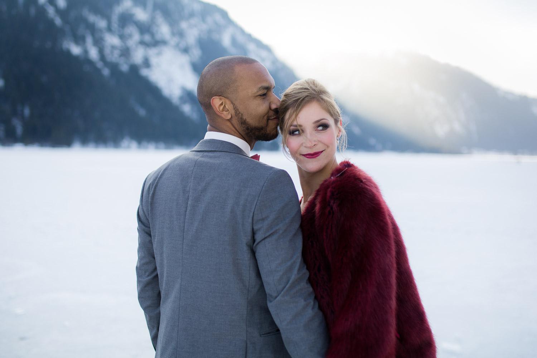 Brautpaarshooting im Schnee Tannheimer Tal