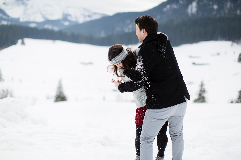 Schnee fotoshooting Schliersee