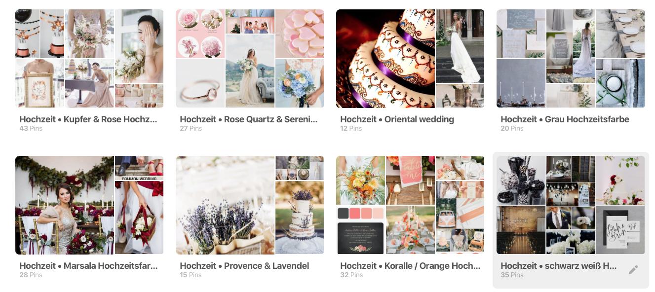 Pinterest als Hochzeitsinspiration nutzen