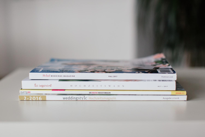 Hochzeitsideen in Magazinen suchen