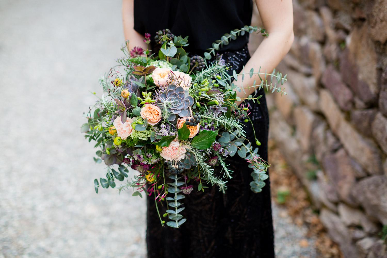 Black Bride Wedding Flowers