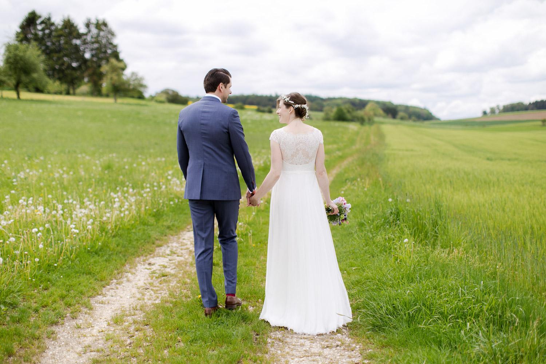 Wald und Wiese Brautpaar
