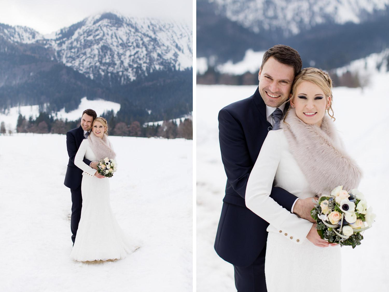 Bayrische Winterhochzeit Fotograf