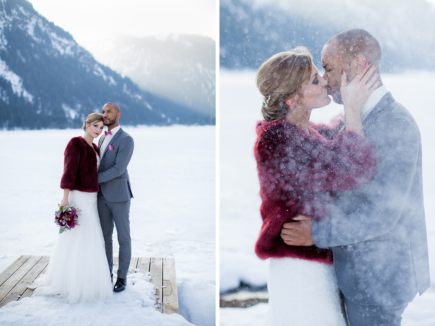 After Wedding Shooting im Winter