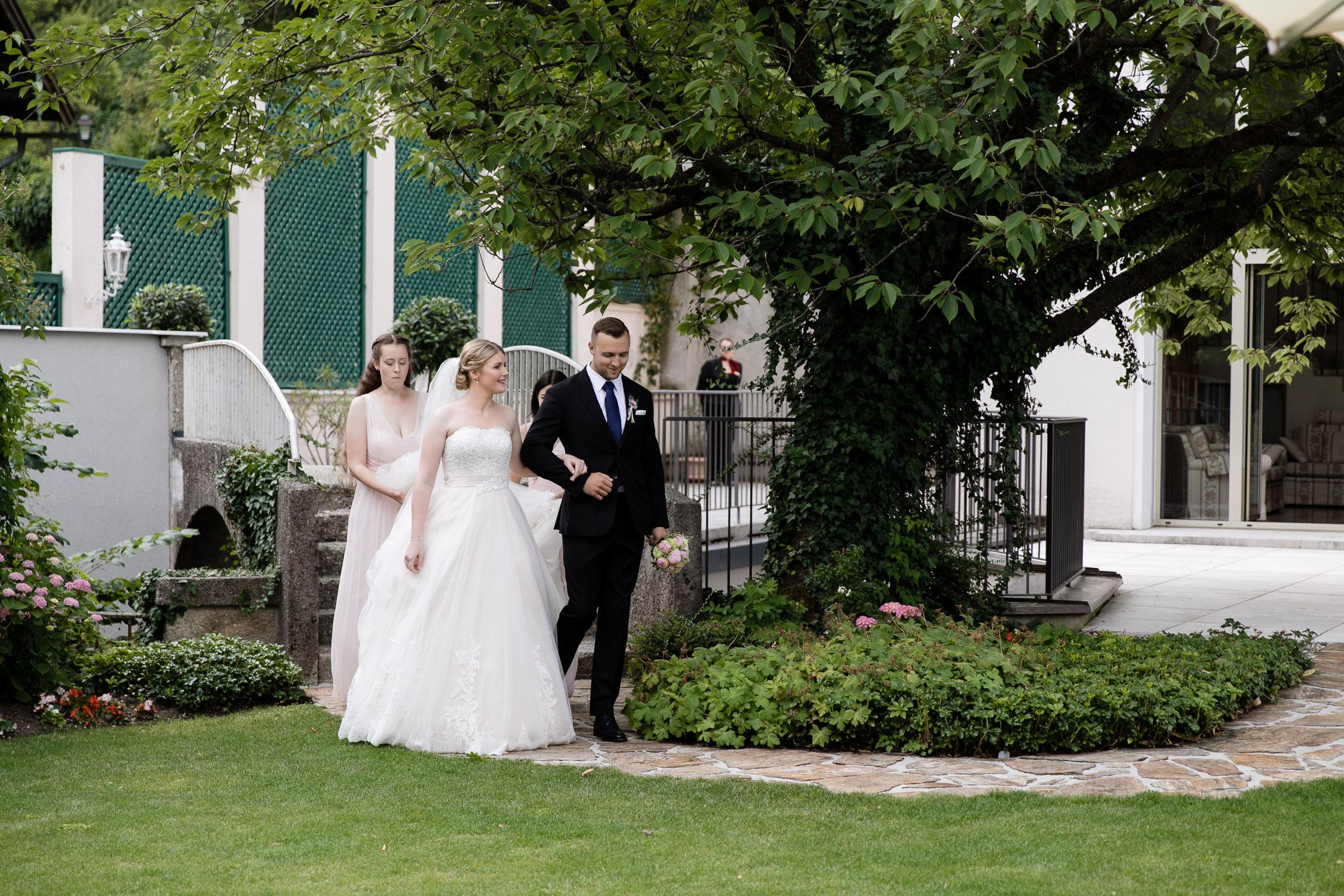 Einzug Braut Hochzeit Salzburg