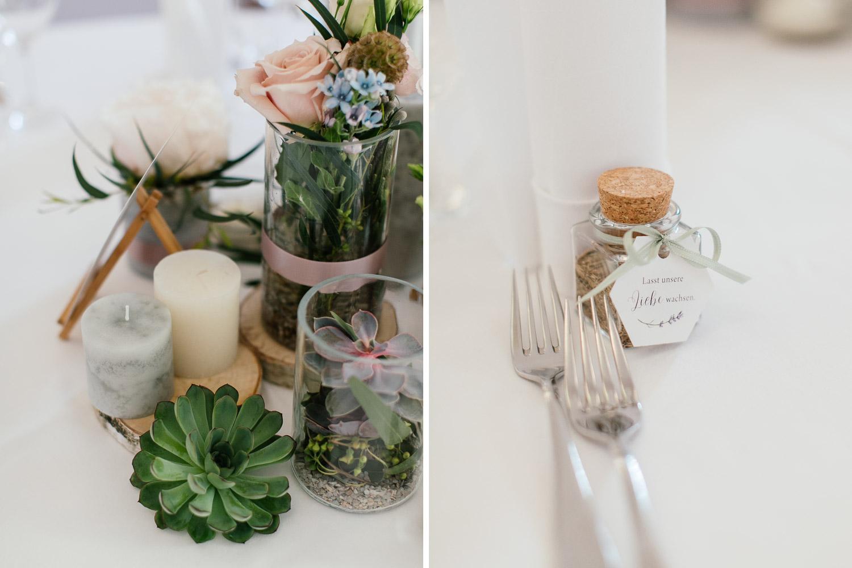 Hochzeitsdekoration Greenery