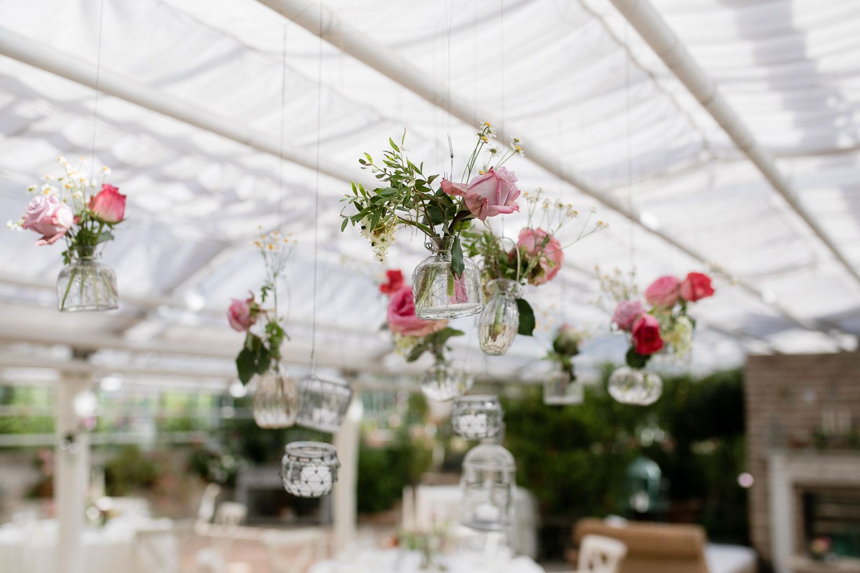 Dekoideen für eine Hochzeit in der alten Gärtnerei