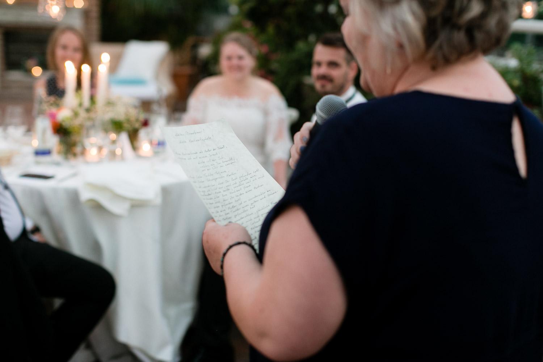 Hochzeitsreportage mit Rede
