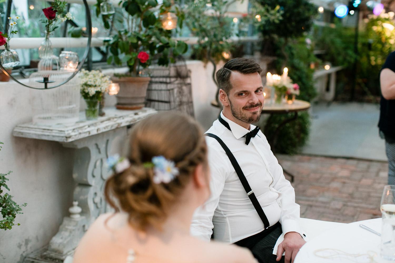 Hochzeitstag in der alten Gärtnerei