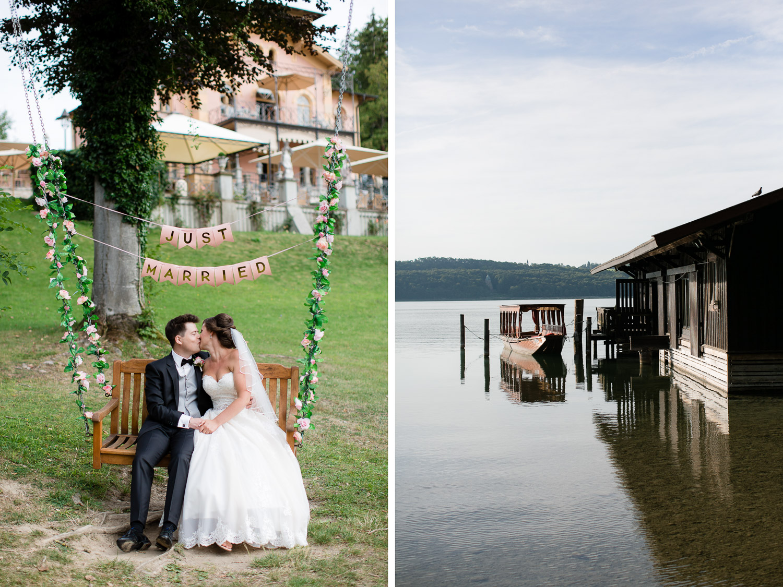 Intime Hochzeit am Starnberger See