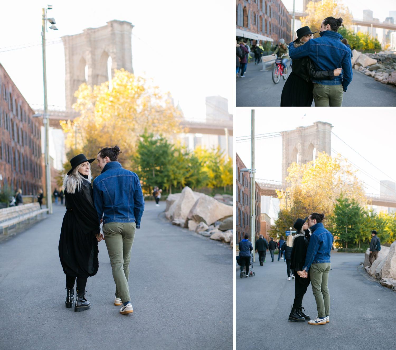 Photoshoot in Brooklyn Dumbo