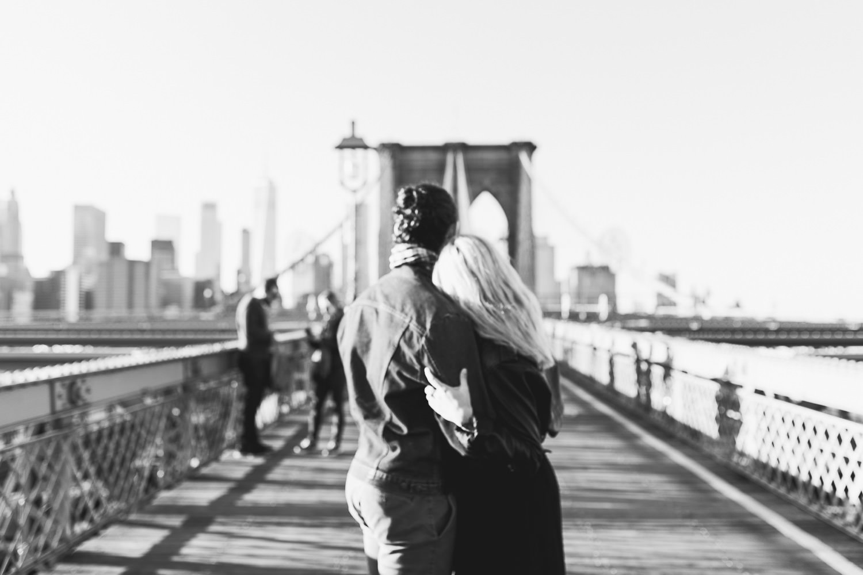 Lovestory at Brooklyn Bridge