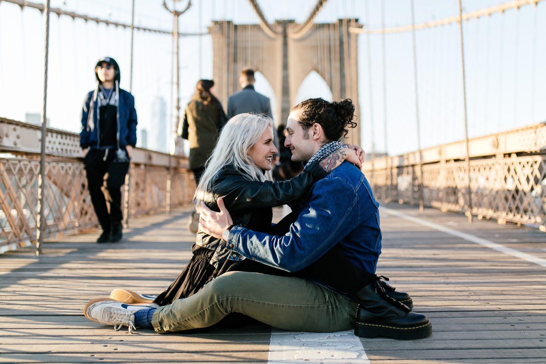 Fotoshooting in New York auf der Brooklyn Bridge