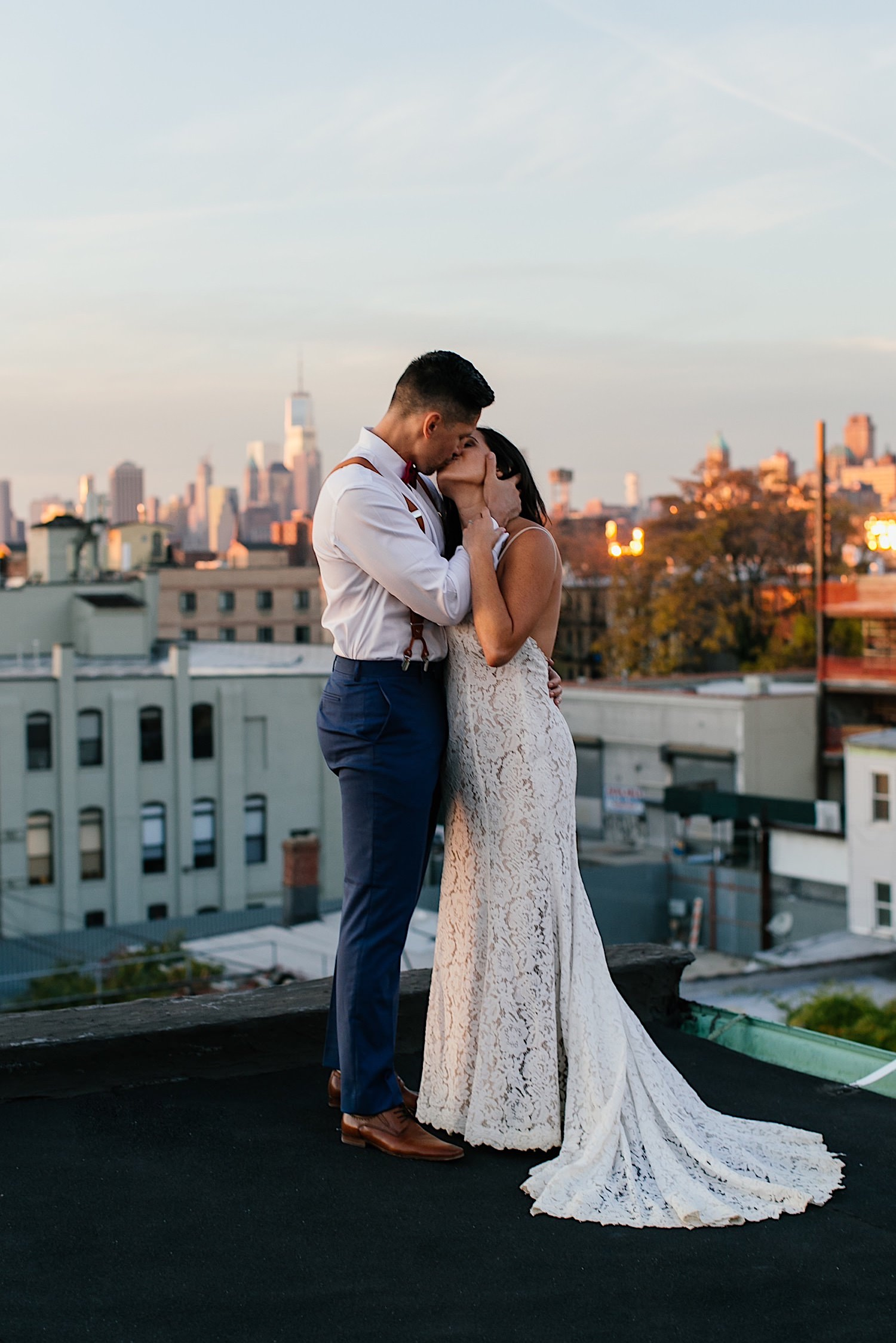 Rooftop Wedding in Brooklyn