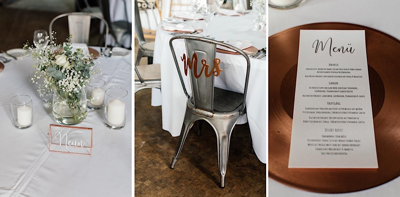 Hochzeitsdekoration Kesselhaus alte Spinnerei
