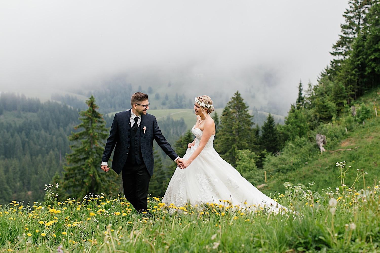 Fotografin Hütten- / Berg Hochzeit Bayern