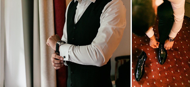 Hochzeitsfotografie Getting Ready des Bräutigam