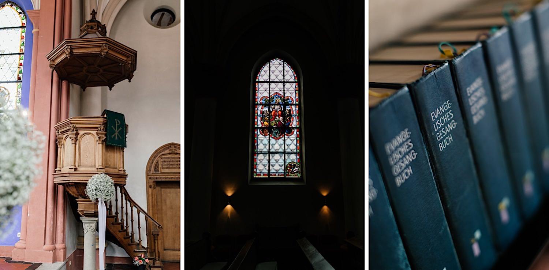 Kirchliche trauung in der Christuskirche am tegernsee