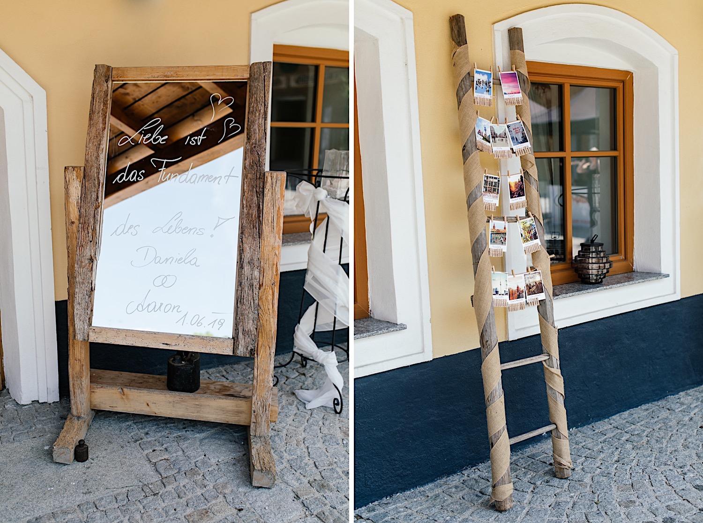 Hochzeitsdekoration Vierkanthof