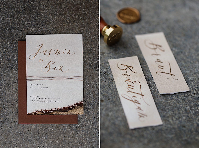 Papeterie für die Hochzeit aus Ulm