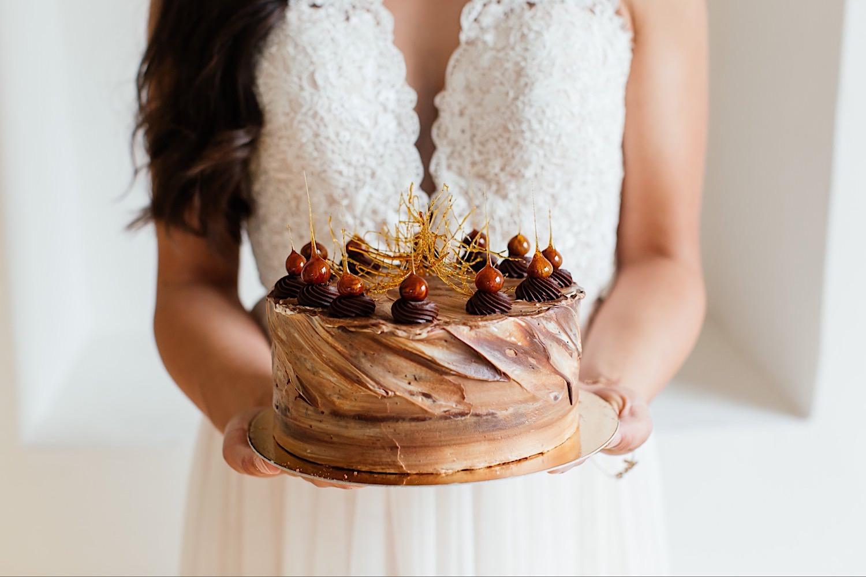 Hochzeitstorte mit Schokolade aus Ulm