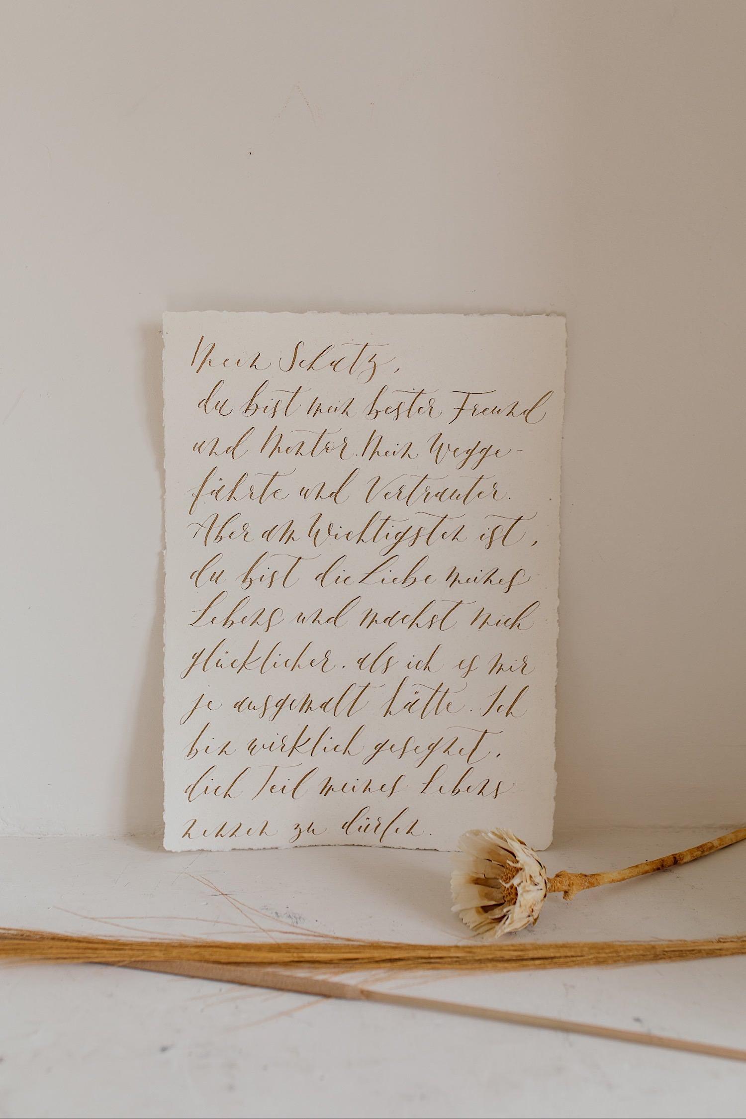 Liebesbrief Papeterie für die Hochzeit