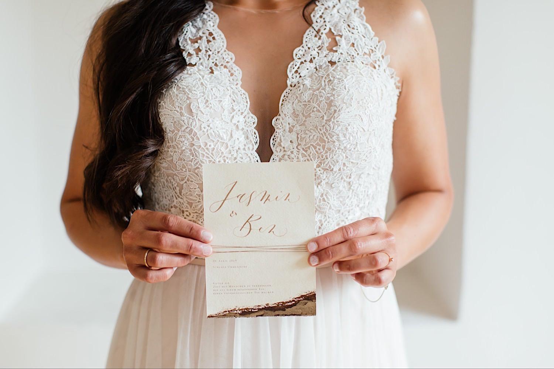 Handgeschriebene Hochzeitspapeterie aus Ulm