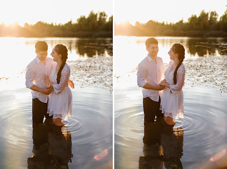Fotoshooting mit Paar bei Augsburg
