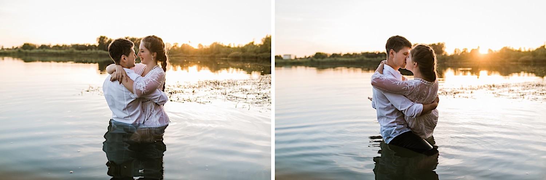 Paarshooting im Sonnenuntergang