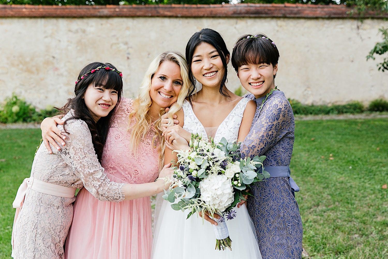 Gruppenbilder bei der Hochzeit