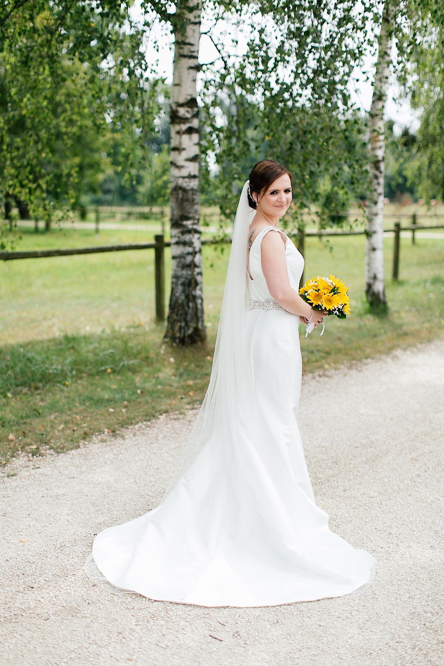 Brautstrauss mit Sonnenblumen