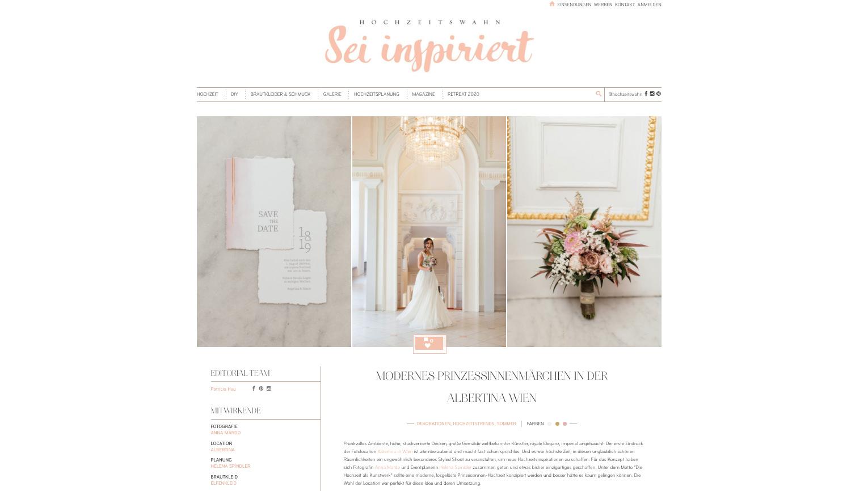 Hochzeit Albertina in Wien