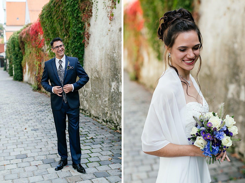 Fotoshooting mit Brautpaar in Immenstadt