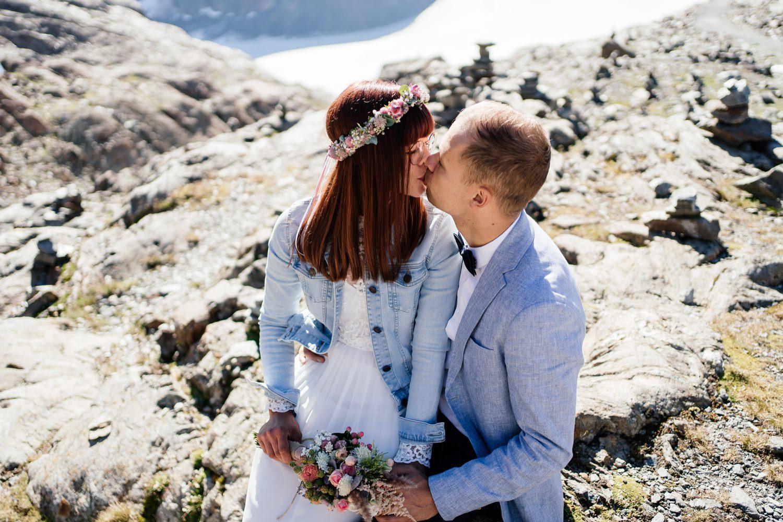 Hochzeit auf einem Gletscher