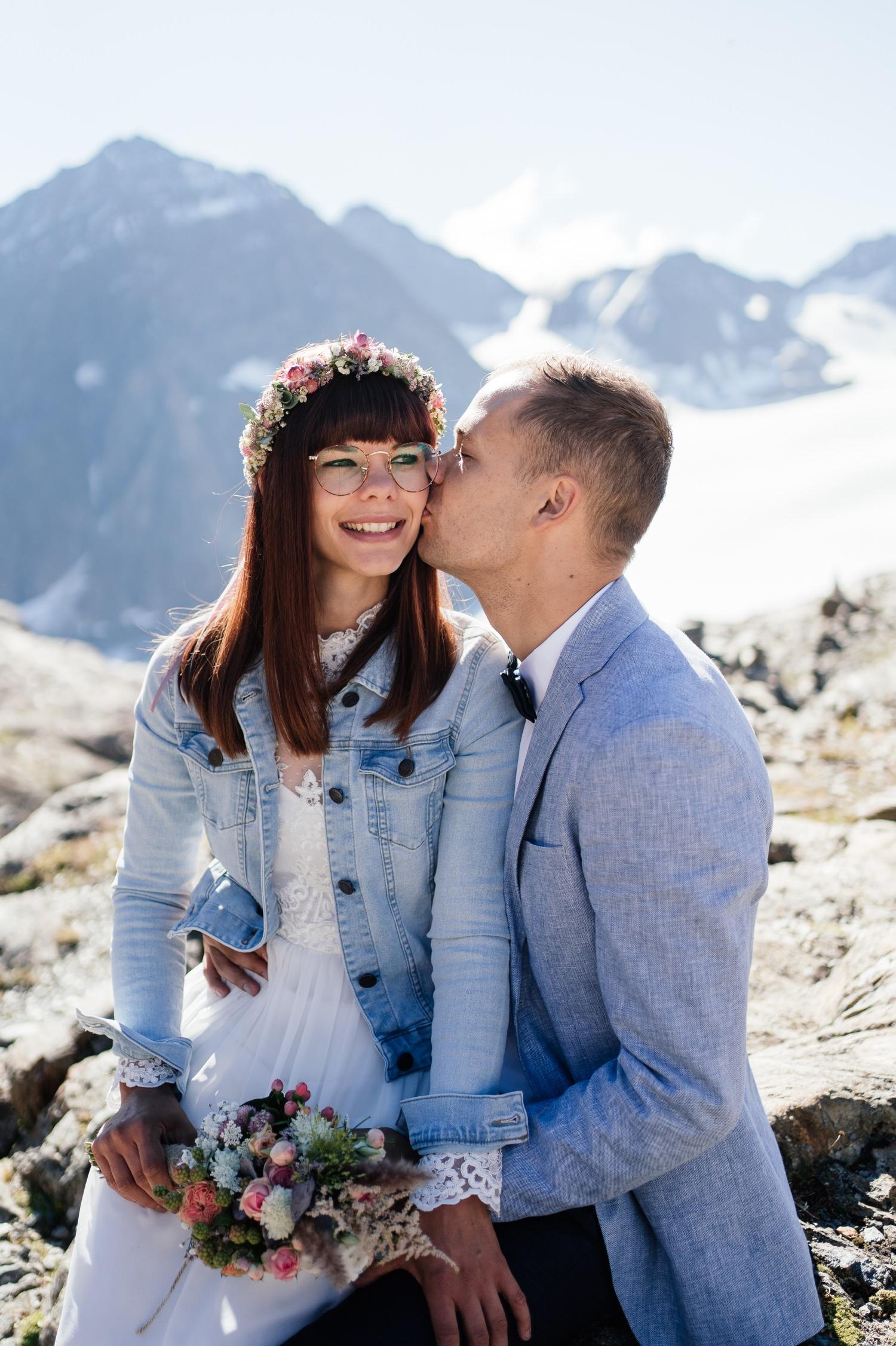 Heiraten zu zweit in den Bergen