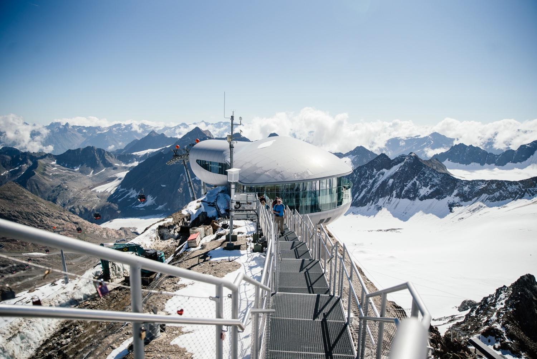 Cafe 3440 auf dem Pitztaler gletscher