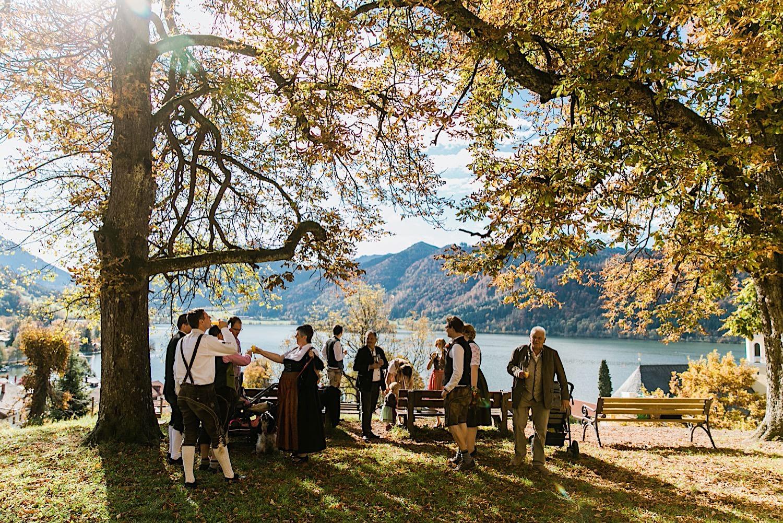 Sektempfang Herbsthochzeit am Schliersee