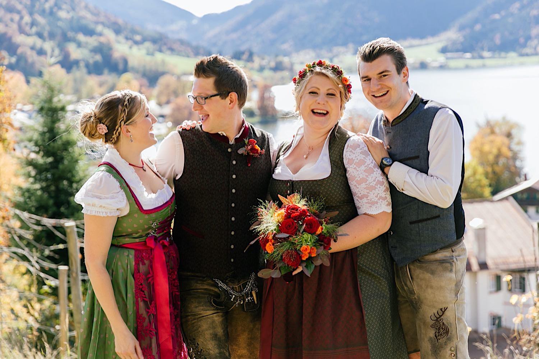 Gruppenbild Hochzeitsfotograf Schliersee