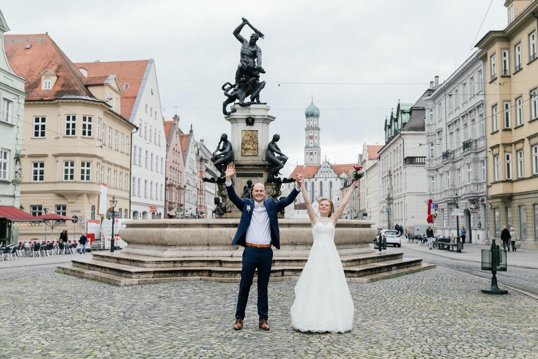 Urbane Stadthochzeit in Augsburg