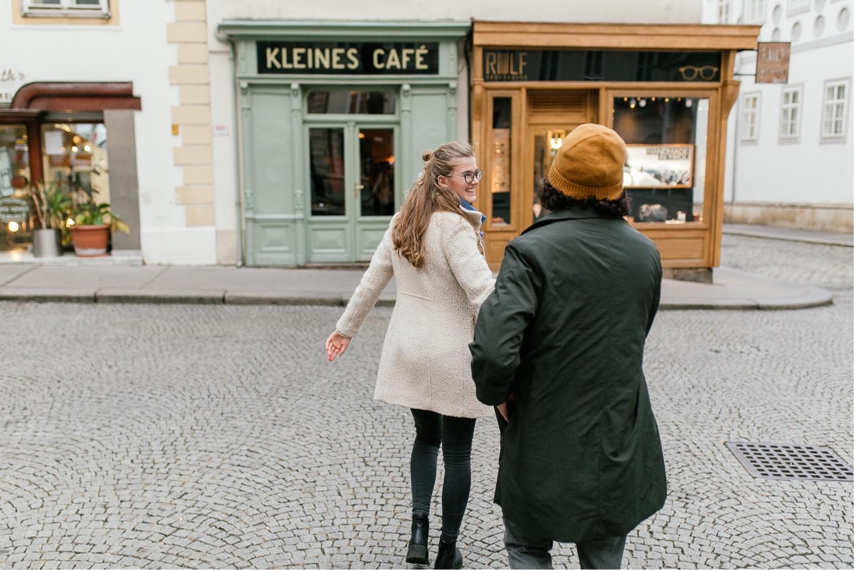 Fotoshooting mit einem Paar in Wien