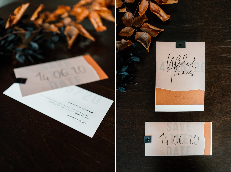 Papeterie für die Herbsthochzeit in Orange