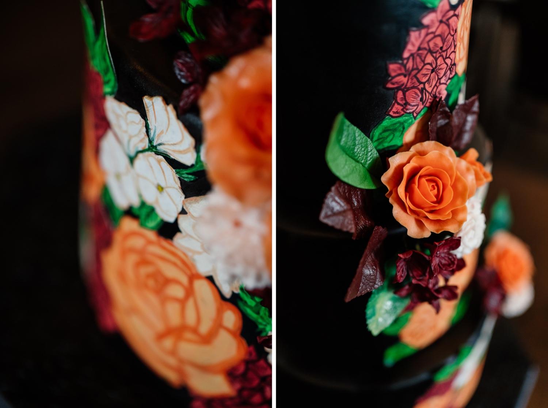 Hochzeitsideen für die Hochzeit in orange und schwarz