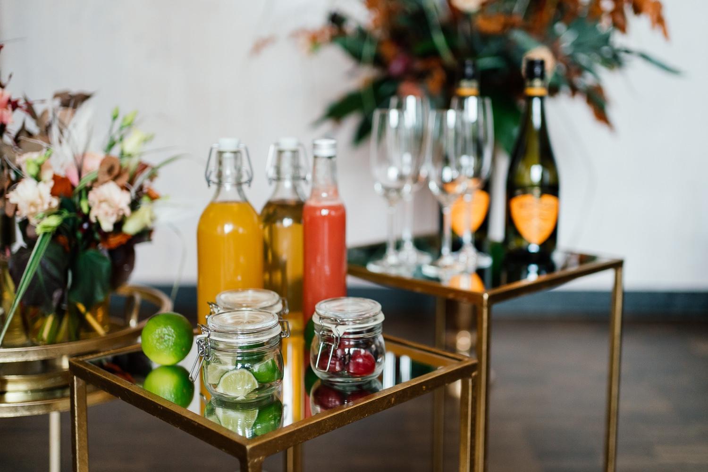 Idee für die Hochzeit Prosecco Bar