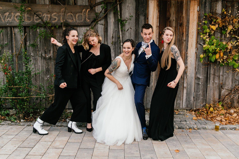 Gruppenbild Hochzeit Bayern